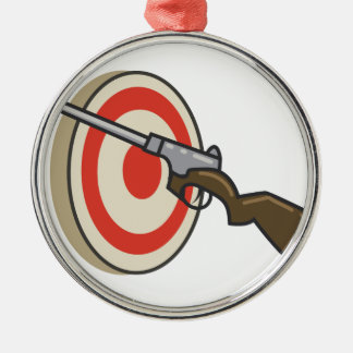 Target Shoot Silver-Colored Round Ornament