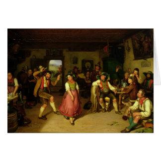 Target Shooting and Dancing in Oberbayern, 1841 Card