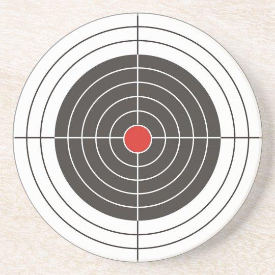 Target shooting for gun, rifle or firearm shooter coaster