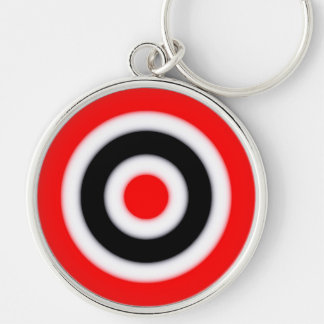 Target Silver-Colored Round Keychain