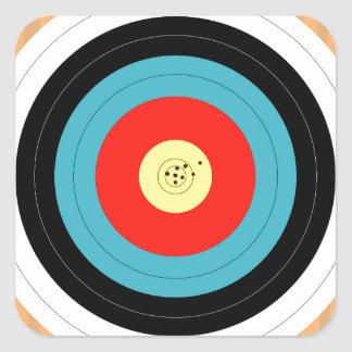 Target Square Sticker