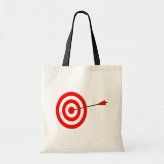 Target with arrow tote bag