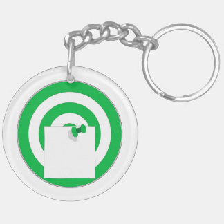 Target with note note keychain