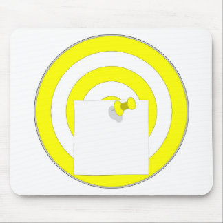 Target with note note mouse pad