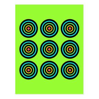 Targets Nine Squared Postcard