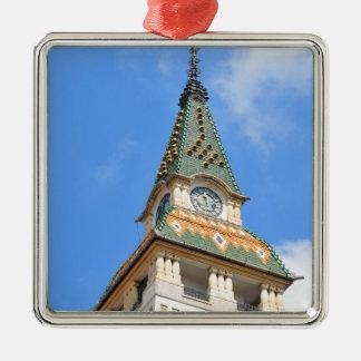 Targu-Mures, Romania Silver-Colored Square Ornament
