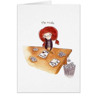 Tarjeta de Gracias Card