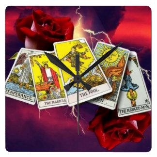 Tarot card clock