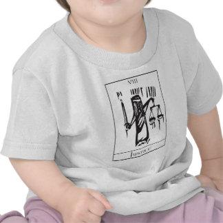 Tarot Card Justice T-shirts