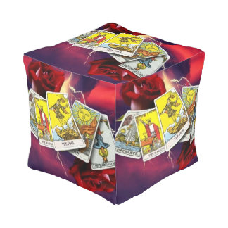 Tarot card pouf