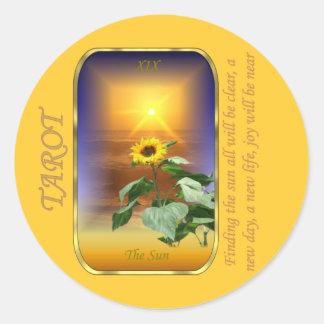 Tarot Card - The Sun Classic Round Sticker
