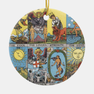 Tarot Cards Collage Ceramic Ornament