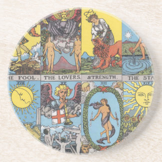 Tarot Cards Collage Coaster