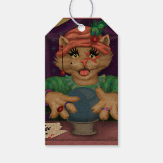 TAROT CAT CARTOON GIFT TAG Kraft