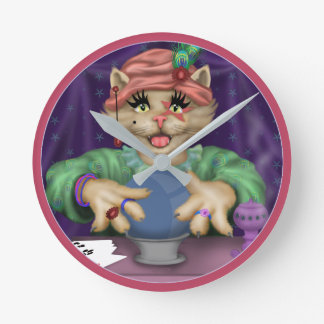 TAROT CAT Clock Round (MEDIUM)