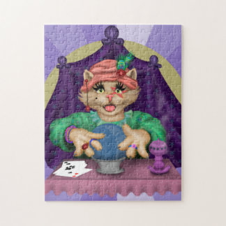 TAROT CAT CUTE CARTOON PUZZLE 11 X 14