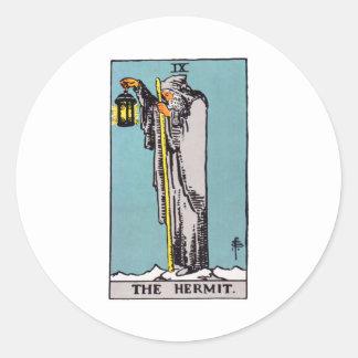 tarot-hermit round sticker