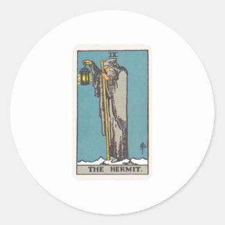 Tarot of the Eremit The Hermit Classic Round Sticker