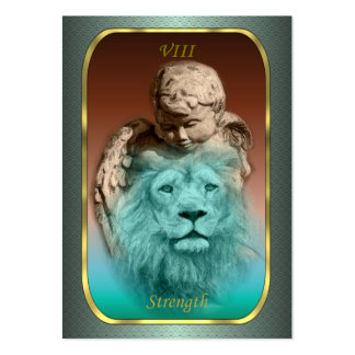 Tarot Profile Cards - Strength Pack Of Chubby Business Cards