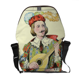 Tarot quest brown bag with vintage tarot painting commuter bags