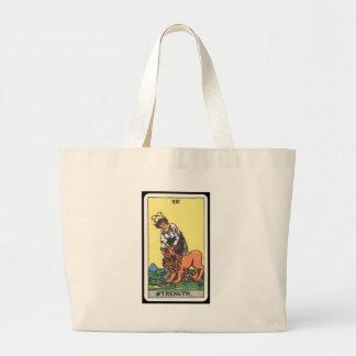 Tarot: Strength Large Tote Bag