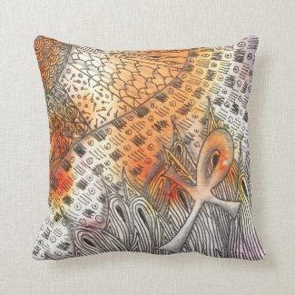 Tarot Symbol Ankh Throw Pillows