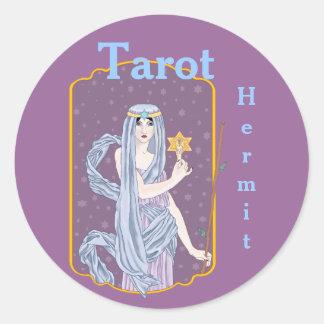 Tarot The Hermit Round Sticker