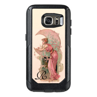 TAROTS/ LADY OF THE MOON,FLOWERS IN PINK MONOGRAM OtterBox SAMSUNG GALAXY S7 CASE