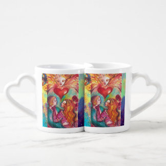 TAROTS LOST SHADOWS,LOVERS Valentine's Day Heart Coffee Mug Set