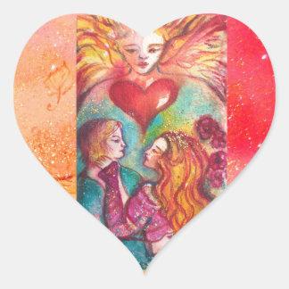 TAROTS LOST SHADOWS,LOVERS Valentine's Day Heart Heart Sticker