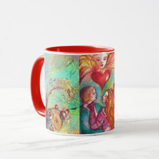 TAROTS LOST SHADOWS,LOVERS Valentine's Day Heart Mug