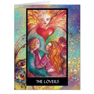 TAROTS OF LOST SHADOWS / LOVERS Valentine' s Day Card
