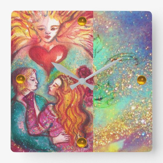 TAROTS OF LOST THE SHADOWS,LOVERS Valentine's Day Square Wall Clock
