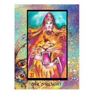 TAROTS OF THE LOST SHADOWS /STRENGHT / FORTITUDE POSTCARD
