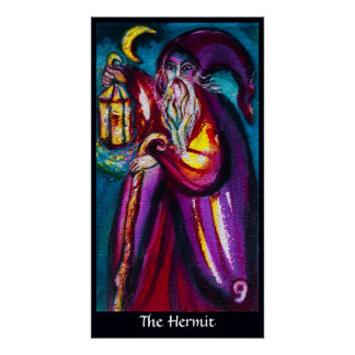 TAROTS OF THE LOST SHADOWS /THE HERMIT POSTER
