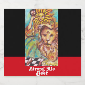 TAROTS OF THE LOST SHADOWS /THE SUN STRONG BEER BEER BOTTLE LABEL