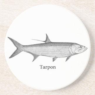 Tarpon  Logo  (line art) Coaster