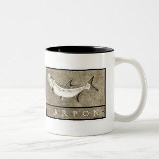 Tarpon Vintage Black & White Mugs