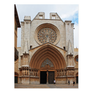 Tarragona cathedral postcard
