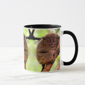 Tarsier Black Handle Mug