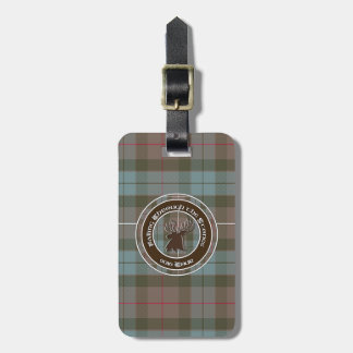 Tartan 2016 tour logo luggage tag
