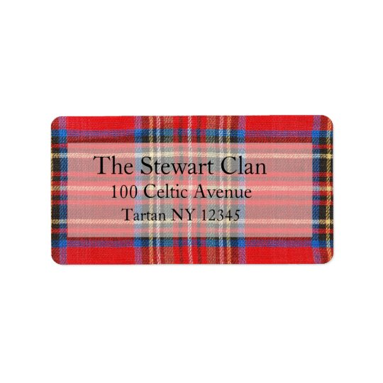 Tartan Address Label