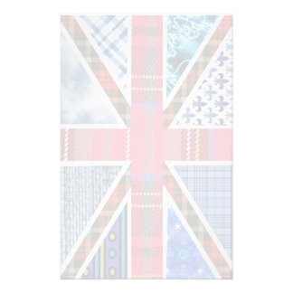 Tartan and Fabric Patterns British Flag paper Stationery Paper