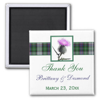 Tartan and Thistle Wedding Favor Magnet