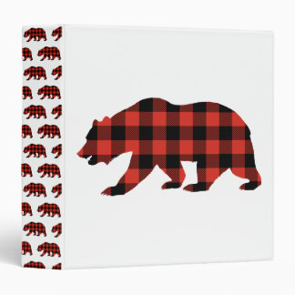 Tartan bear binder