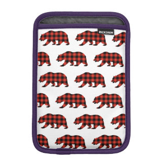 Tartan bear iPad mini sleeve