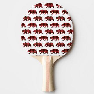 Tartan bear ping pong paddle