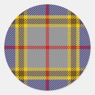 Tartan Clan Balfour Classic Round Sticker