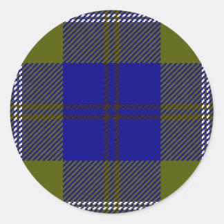 Tartan Clan Oliphant Classic Round Sticker