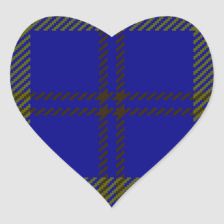 Tartan Clan Oliphant Heart Sticker